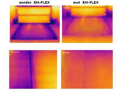 Warmtebeeld zonder en met EM-FLEX afdichting